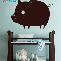Vinyl Wall Art Decal Pig Piglet Piggy Decoration #166