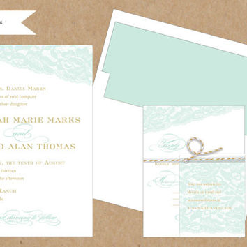 Elegant Lace Wedding Invitation Collection