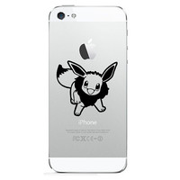 iPhone 4, 5, 6 Decal Sticker  - Pokemon Eevee- 2 copies