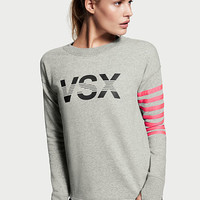 Striped Flyaway-back Pullover - Victoria's Secret Sport - Victoria's Secret