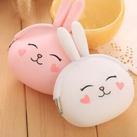 Kawaii Cartoon Rabbit Coin Pouch