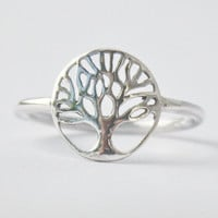 Tree of Life Ring  Yggdrasil  925 sterling by HeartCoreDesign