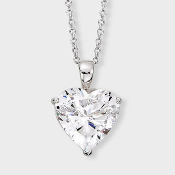 Perfect 2.6CT Russian Lab Diamond Heart Necklace