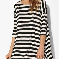 Black and White Loose Fitting Mini Dress