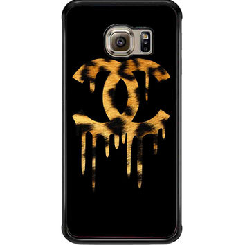 Chanel Drip Leopard For Samsung Galaxy S6 Edge Case **