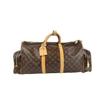 Louis Vuitton Monogram Canvas Shoulder Sac Gymnastique Bag Brown