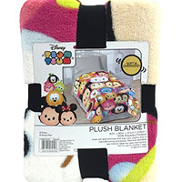 "Disney Tsum Tsum ""Faces"" Flannel/Silk Blanket"