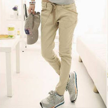 Skinny Pencil Pants Fashion Women Casual Stretchable Feet Pants with Special Pockets PE3128*50
