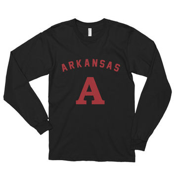 Arkansas Long sleeve t-shirt (unisex) | The Inked Elephant