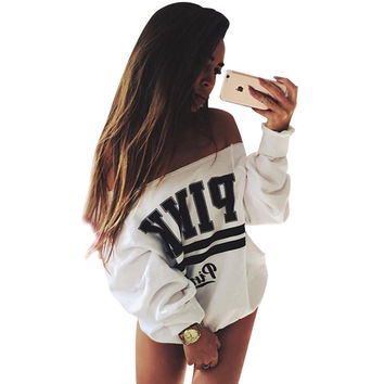 Gagaopt Hoody White PINK Hoodies Women's Tracksuits Svitshot Strapless Hoodies Sweatshirt Women Victoria Secret