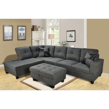 Beverly Fine Furniture Della Chaise Living Room Sectional Set & Reviews | Wayfair