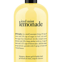 philosophy iced mint lemonade shower gel, 16 oz