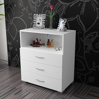 Luxxe chest of drawers & bed side table