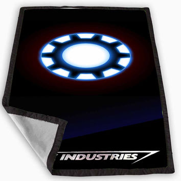 ironman heart stark industries Blanket for Kids Blanket, Fleece Blanket Cute and Awesome Blanket for your bedding, Blanket fleece *