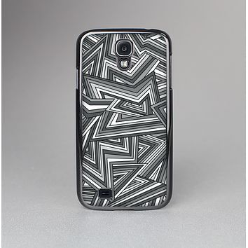 The Jagged Abstract Graytone Skin-Sert Case for the Samsung Galaxy S4
