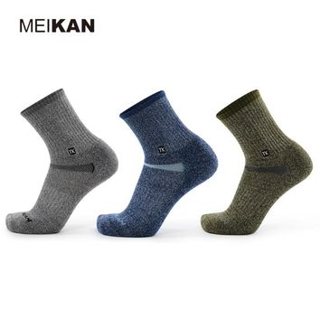 MK5108 High Quality Men Merino Wool Outdoor Hiking Socks Quick-drying Thicken Terry Warm Sports Socks Hiking Skiing for Winter