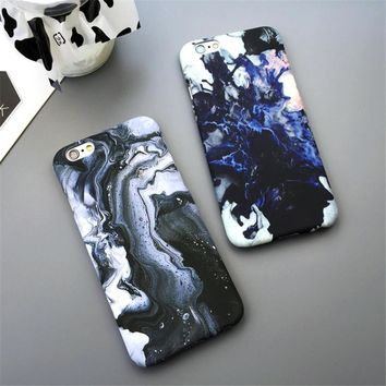 Cool Fashion Phone Marble Case For Iphone 8 8plus X 7 7 Plus Iphone 5 5s Se 6 6s 6 Plus 6s Plus + Nice Gift Box 072701