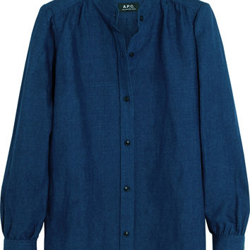 A.P.C. Atelier de Production et de Création - Cotton and linen-blend shirt