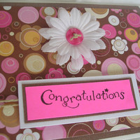 Congratulations Card Contemporary Bold and by PremiumGreetingCards