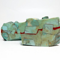 Turquoise Multilayer Rock-Style Bar Soap in Torrential Rains