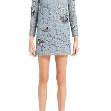 Valentino Butterfly Embroidered Lace Dress | Nordstrom