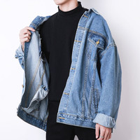Free Shipping-GHETTO OVERSIZED DENIM JACKET sold by NEW ARRIVAL