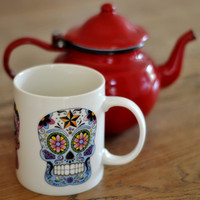 Sugar Skull Mug — Dear Blackbird Homewares