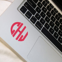 Vinyl Laptop Monogram