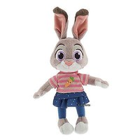 "Licensed cool Zootopia 9"" Judy Hopps Bunny Rabbit Mini Bean Bag Plush Toy Disney Store NEW"