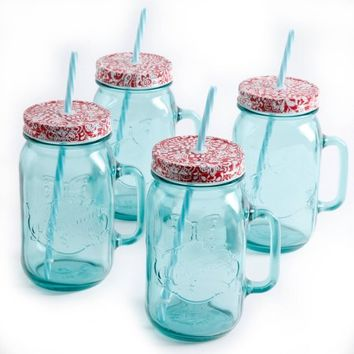 The Pioneer Woman Simple Homemade Goodness 32 oz Mason Jars, 4-Pack - Walmart.com