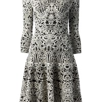 ALEXANDER MCQUEEN flared jacquard dress