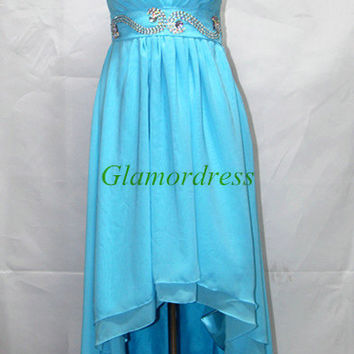 custom chiffon high low sweetheart cocktail party dresses cheap unique gowns for prom with sequins and crystals best homecoming dress