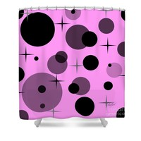 Dots and Stars Shower Curtain