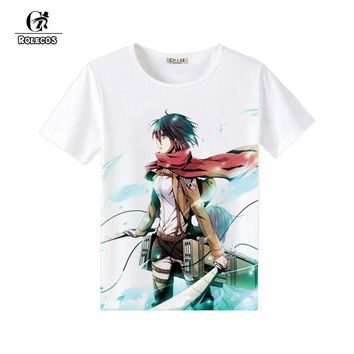 Cool Attack on Titan ROLECOS  Cosplay Summer Fashion T-shirt no  Costume Cosplay Cotton Brand Costumes AT_90_11