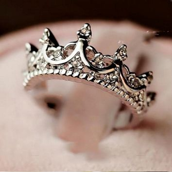 Beautiful Queen's Silver Crown Rings