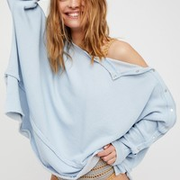 Free People Snap Up Shoulder Pullover