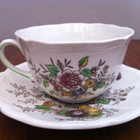 Antique cup and saucer Royal Doulton Hampshire pattern