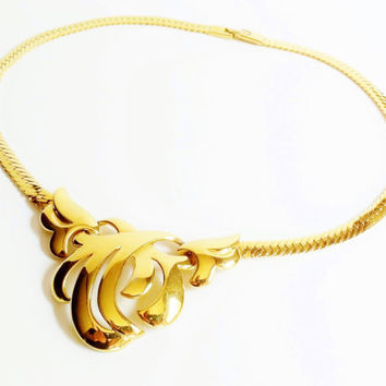 Napier Necklace, Gold Necklace, Snake Chain, Signed Jewelry, Gold Chain, Vintage Necklace, Designer Jewelry, Collectible Jewelry, Gift Idea