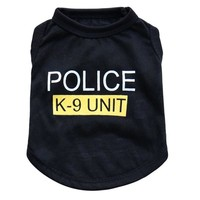 """""""Police"""" Unisex Pet Clothes Puppy/Dog/Cat tee shirt"""