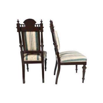Pre-owned Baroque-Style Dining Chairs - Set of 4