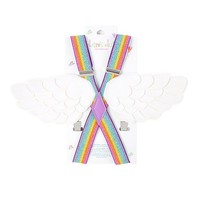 Kids Glitter Suspenders with Angel Wings | Claire's