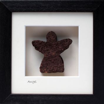 """Angel"" Picture, Made in Ireland from 10,000 year old Irish Bog/Peat"