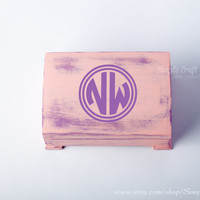 Typographic custom box personalized boxes letter boxes initial wood boxes monogrammed boxes custom wood boxes personalized bridesmaids gift