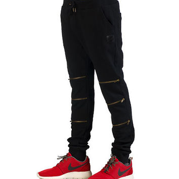 ZIP OPEN JOGGER PANT - Black - DECIBEL