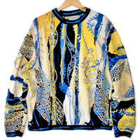 Textured Bright Colorful Embroidered Cosby Sweater - The Ugly Sweater Shop