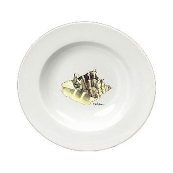 Shell Round Ceramic White Soup Bowl 8658-SBW-825