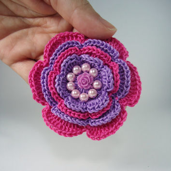 Crochet hair clip, hair clip girls, girl accessories, head accessories - Ideal from 3 Year to adult - Gift or other occasion