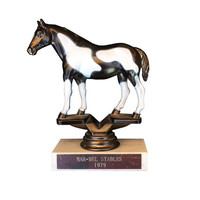 Vintage Horse Show Riding Trophy / Award / Bronze Colored Equestrian Figurine / Statue / Statement Piece