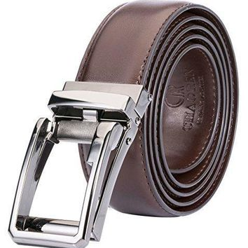 Ratchet Click Belt Custom Fit with Automatic Sliding Buckle in a Gift Box-Men's Comfort Genuine Leather Dress Belt