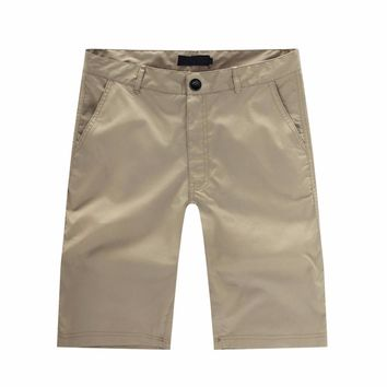 2017 New Fashion Men's Casual Summer Beach  Solid Color Baggy Pocket Pants Trousers